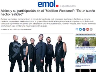 """Aisles y su participación en el """"Marillion Weekend"""": """"Es un sueño hecho realidad"""""""