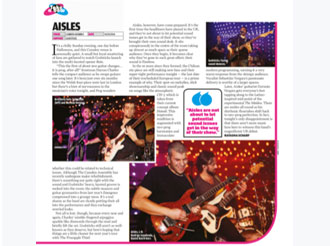 Review of Aisles London Show at the Camden Asembly