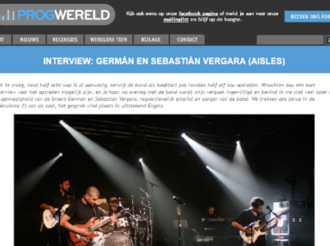 INTERVIEW: GERMÁN EN SEBASTIÁN VERGARA (AISLES)