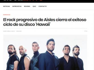 El rock progresivo de Aisles cierra el exitoso ciclo de su disco 'Hawaii'
